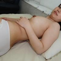 Japanese MILF Kozue Marui in White Cotton Panties