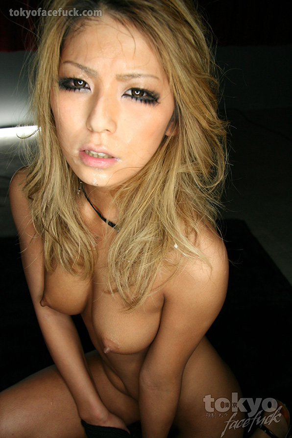 Blond Japanese girl gets a hard one to the face