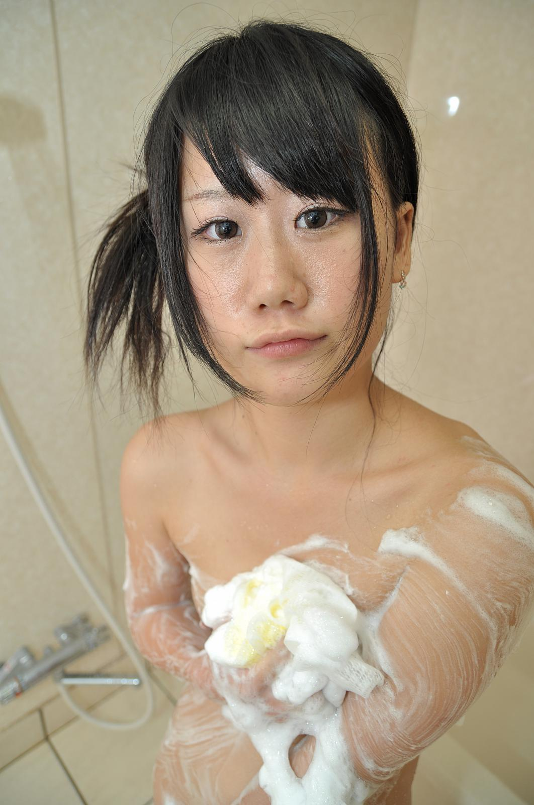 Yuka Kojima Loves Soapy Bubbles Aginst Her Tiny Body