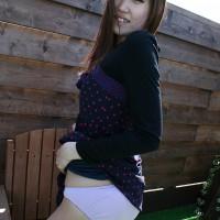 Slender Japanese Teen Mai Tutida shows her cotton panties