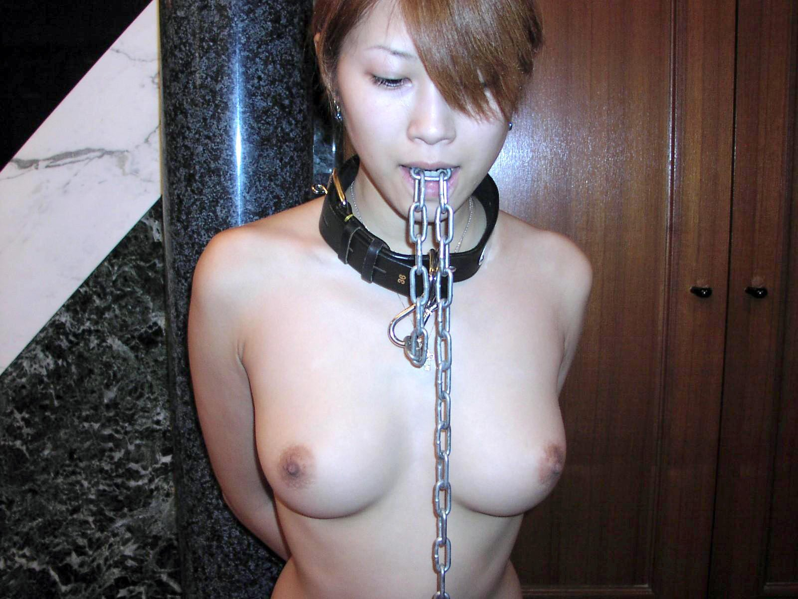 Japanese Sub in Dog Collar and Chains
