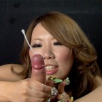 Japanese Girl Aimi Takaoka Can't Take Her Eyes off the Cum Spurts