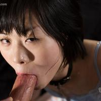 Yuzuki Otohata Gulps Down a Big Cock To the Balls