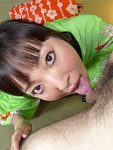 Sexy Asian babe sucking a large meat pole